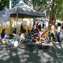 """Atelier """"Sport et philosophie"""" - Dans le cadre du festival des Habitants 2015 à Roubaix."""